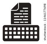 a keyboard with a printed page... | Shutterstock .eps vector #1146177698