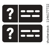 a web page with question marks... | Shutterstock .eps vector #1146177722
