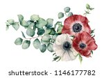 watercolor asymmetric bouquet... | Shutterstock . vector #1146177782
