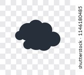 cloudy vector icon isolated on... | Shutterstock .eps vector #1146180485