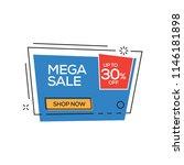 mega sale 30  banner | Shutterstock .eps vector #1146181898