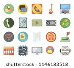 set of 20 icons such as mailing ...