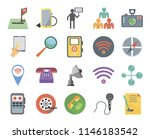 set of 20 icons such as padnote ...