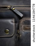 leather bag with zipper ... | Shutterstock . vector #1146184778