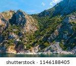 monastery buildings on mount... | Shutterstock . vector #1146188405