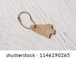 leather label on rustic wood... | Shutterstock . vector #1146190265