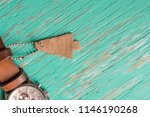 leather label on rustic wood... | Shutterstock . vector #1146190268