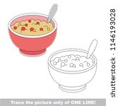drawing worksheet for preschool ... | Shutterstock .eps vector #1146193028