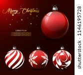 christmas balls with different... | Shutterstock .eps vector #1146195728