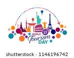 world tourism day logo template ...   Shutterstock .eps vector #1146196742