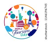world tourism day logo template ... | Shutterstock .eps vector #1146196745