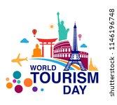 world tourism day logo template ... | Shutterstock .eps vector #1146196748