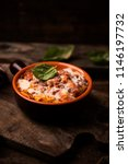 traditional lasagne in a... | Shutterstock . vector #1146197732