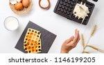 photo on top of flour  eggs ...   Shutterstock . vector #1146199205