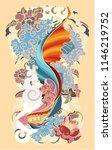 thai fighting fish tattoo...   Shutterstock .eps vector #1146219752