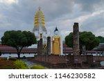 buddha statue at wat phra si...   Shutterstock . vector #1146230582