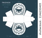 openwork favor box with a lace... | Shutterstock .eps vector #1146233405