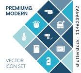 modern  simple vector icon set... | Shutterstock .eps vector #1146239492