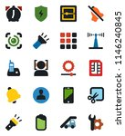 color and black flat icon set   ... | Shutterstock .eps vector #1146240845
