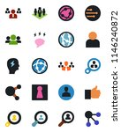 color and black flat icon set   ... | Shutterstock .eps vector #1146240872