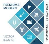 modern  simple vector icon set...   Shutterstock .eps vector #1146241535