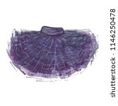 tutu skirt. watercolor... | Shutterstock . vector #1146250478