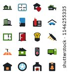 color and black flat icon set   ... | Shutterstock .eps vector #1146255335