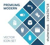 modern  simple vector icon set... | Shutterstock .eps vector #1146256718