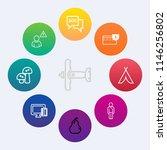 modern  simple vector icon set... | Shutterstock .eps vector #1146256802