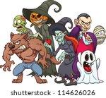 halloween monsters. cartoon... | Shutterstock .eps vector #114626026