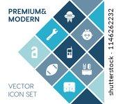 modern  simple vector icon set... | Shutterstock .eps vector #1146262232