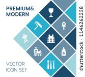 modern  simple vector icon set... | Shutterstock .eps vector #1146262238