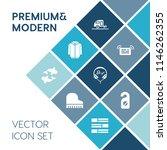 modern  simple vector icon set... | Shutterstock .eps vector #1146262355