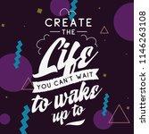 inspirational quote  motivation.... | Shutterstock .eps vector #1146263108