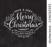 merry christmas. typography.... | Shutterstock .eps vector #1146265352