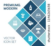 modern  simple vector icon set... | Shutterstock .eps vector #1146265658