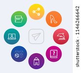 modern  simple vector icon set... | Shutterstock .eps vector #1146266642
