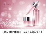cosmetic product poster  bottle ... | Shutterstock .eps vector #1146267845