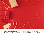 new year christmas presents... | Shutterstock . vector #1146287762