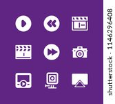 video icon set with movie... | Shutterstock .eps vector #1146296408
