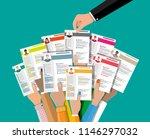 hands holding cv resume... | Shutterstock .eps vector #1146297032