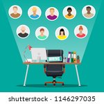 office chair  sign vacancy.... | Shutterstock .eps vector #1146297035