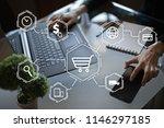 e commerce. internet shopping.... | Shutterstock . vector #1146297185
