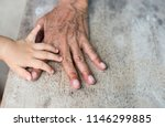 the hand of the little boy are... | Shutterstock . vector #1146299885
