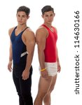 young adult male gymnasts.... | Shutterstock . vector #114630166