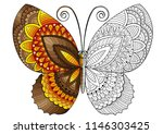 decorative butterfly of bright...   Shutterstock . vector #1146303425