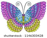 decorative butterfly of bright...   Shutterstock . vector #1146303428