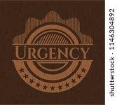 urgency vintage wooden emblem | Shutterstock .eps vector #1146304892