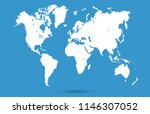 color world map vector | Shutterstock .eps vector #1146307052