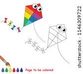 kite flying smiley to be... | Shutterstock .eps vector #1146309722